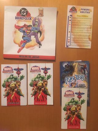 Heroclix DC y Marvel completo 35 figuras