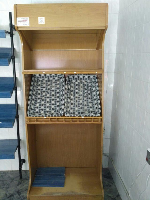 Muebles expositor panadería y mostrador