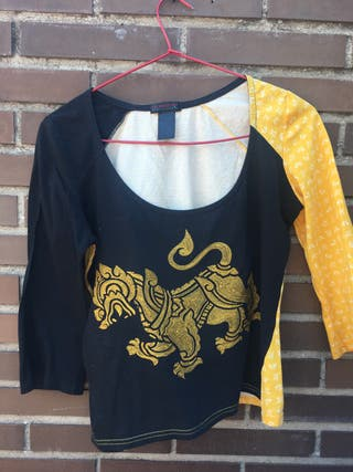 Camiseta bordado tigre