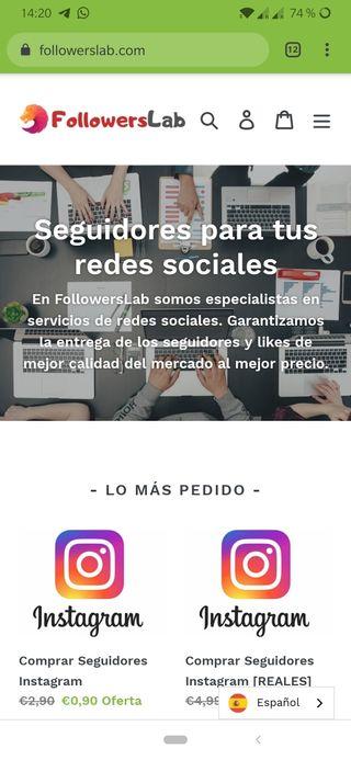 E-commerce - Pagina Web Social Media completa