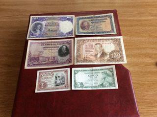 Lote de billetes República y periodo nacional