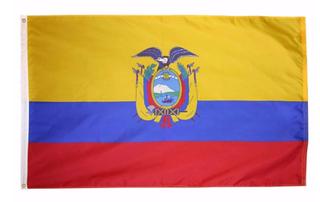 Bandera de ecuador de tela 150cm x 90cm