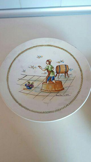 Platos decoración cerámica Zorrilla