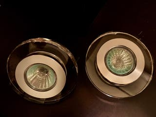 Par de lámparas halógenas