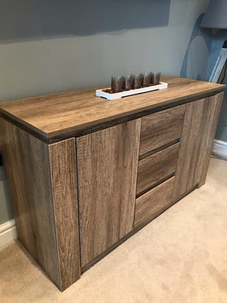 Canyon Oak Coffee Table, Sideboard and Lamp Table