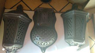 juego 3 faroles cerámica .Estilo árabe