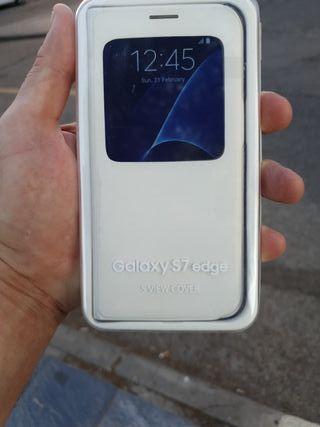 Funda original Samsung Galaxy s7 edge (S-VIEW)