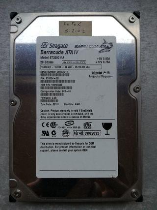 Disco duro interno 20 Gb