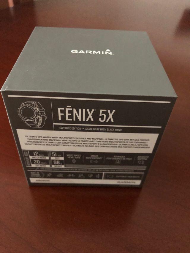 Garmin Fenix 5x Sapphire nuevo y precintado