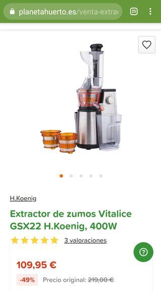 extractor de zumos usado 2 veces