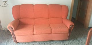 sofá 3 plazas + sillón orejero