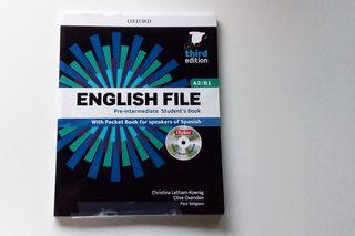 Libro de inglés: English file A2/B1