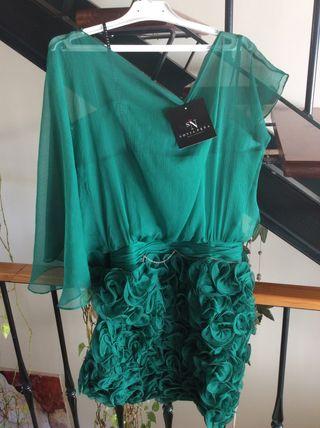 Vestido verde de fiesta de Sonia Peña