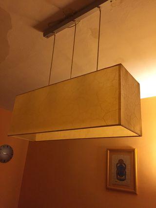 Lampara techo estilo pergamino