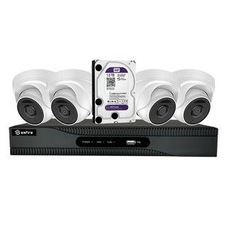Kit 4 domo + videograbador + disco duro