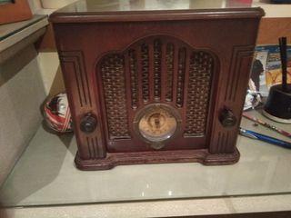 radiocasette grabadora de madera