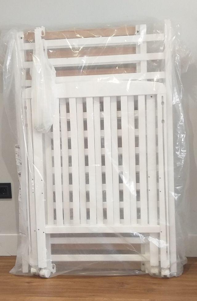 Cuna sin estrenar de Madera Blanca 120x60 cm