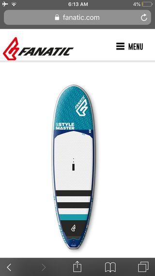 "Tabla paddle surf. Fanatic 10"" stylemaster 2019"