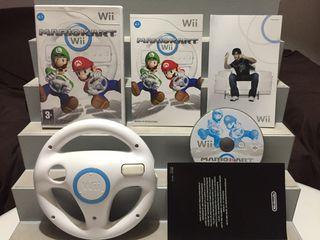 MARIO KART Y VOLANTE NINTENDO Wii COMPLETO