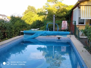 Manta para piscina enrrollador