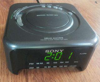 Radio reloj despertador Sony
