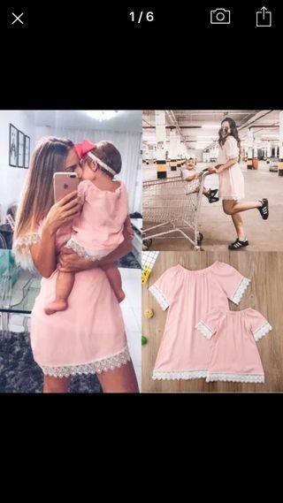 Vestido iguales madre e hija nuevos .