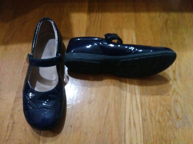 PK003 Zapato de vestir azul marino T.34