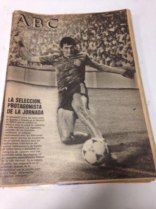 PERIODICO ABC Y DOMINICAL AÑO 1986