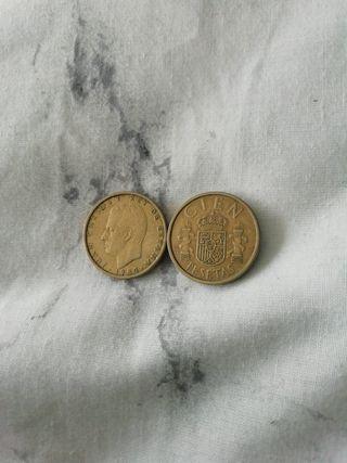Moneda 100 pesetas Juan Carlos I 1984