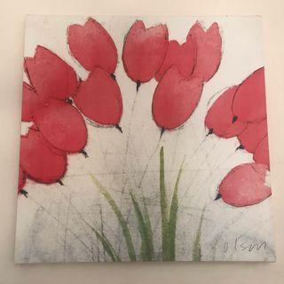 Cuadro de flores 60x60