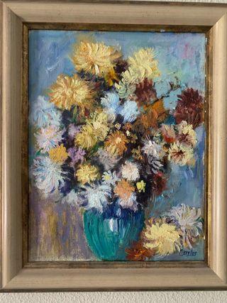 Cuadro jarrón de flores