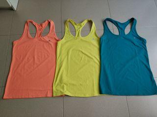 3 camisetas fitness mujer
