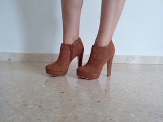 Zapatos Tacon Marrones Talla 38