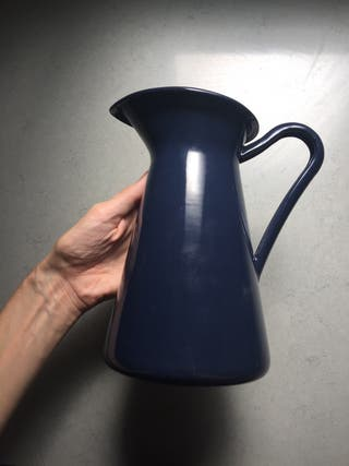 Florero acero esmaltado ikea azul