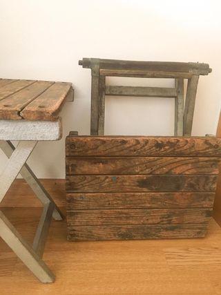 Antiguas sillas plegables