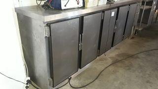 Mueble frigorífico mesa fría de 5 puertas