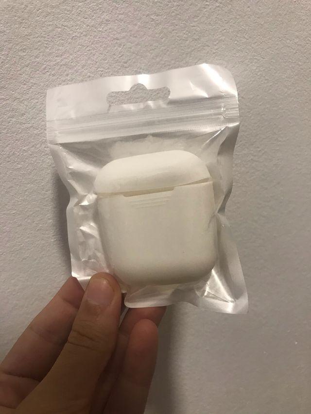 Funda silicona para Airpods Azul/Blanca