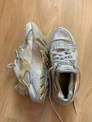 zapatillas nike hurache blancas