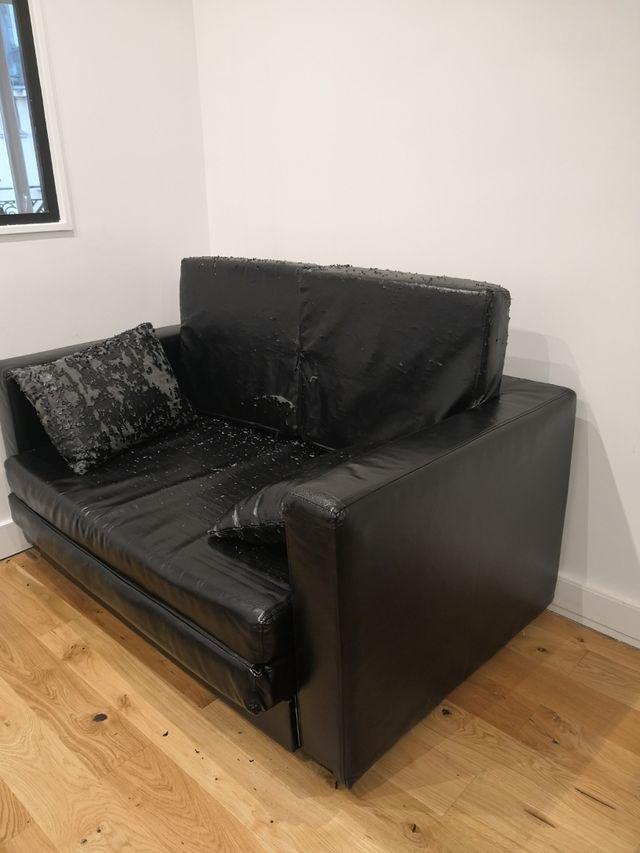Canapé convertible simili-cuir