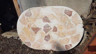 Mesa de mármol maciza sin pie