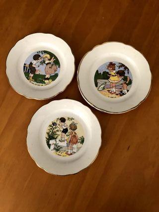 Platos de postre de porcelana francesa