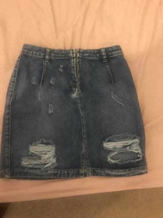 Mini Ripped Skirt