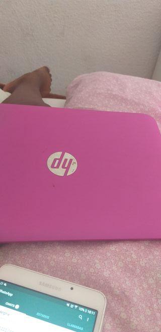 ordenador hp rosa