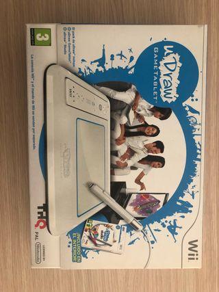 Udraw Wii game tablet. Tablet de dibujo