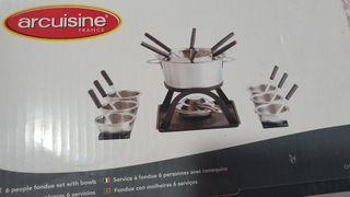 fondue + regalo alcohol de quemar