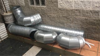 Tubo helicoidal y codos galvanizados