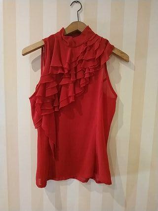 Blusa Volantes color rojo