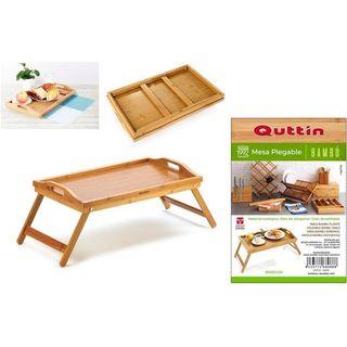 Mesa plegable de bambú
