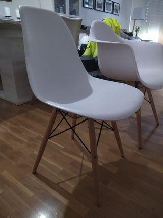sillas estilo nordico