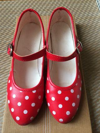 Zapatos niña flamenca talla 31